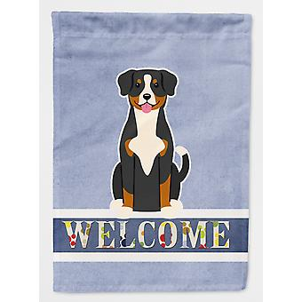 Carolines Treasures  BB5619GF Entlebucher Welcome Flag Garden Size