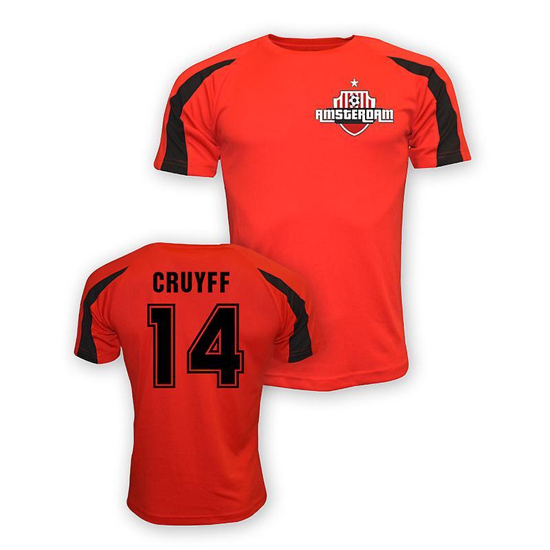 Johan Cruyff Ajax Sports Training Jersey (red)