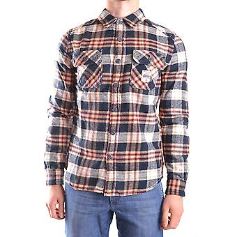 Superdry mens MCBI371011O multicolour cotton shirt