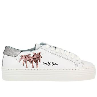 Chiara Ferragni women's CF1922 White leather of sneakers
