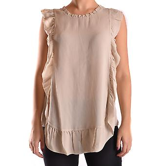 Twin set women's MCBI302086O beige viscose top