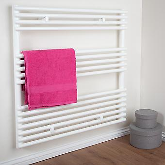 TZ Bathroom Towel Rail Radiator - Straight - White (H)770 x (W)600mm