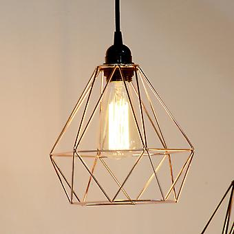 Industrial Cage Pendant Light - Copper