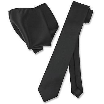 Vesuvio Napoli mager 2,5-tommers slips lommetørkle Mens smale slips satt