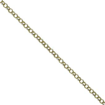9ct Gold 1.8mm wide round linked Belcher Pendant Chain 24 inches