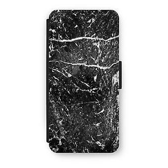 iPhone 5/5 s/SE フリップ ケース - 黒大理石