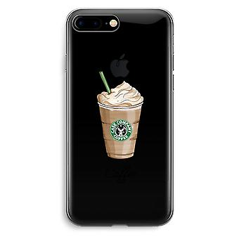 iPhone 7 Plus Transparent Case (Soft) - But first coffee