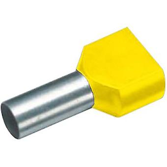 Twin ferrule 2 x 6 mm² x 14 mm Partially insulated Yellow Cimco
