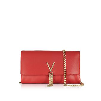Valentino by Mario Valentino women's VBS1R401GRED red faux leather shoulder bag