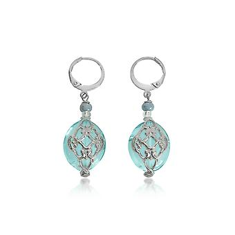 Antica Murrina women's OR548A07 steel blue earrings