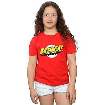 The Big Bang Theory Girls Sheldon Bazinga T-Shirt