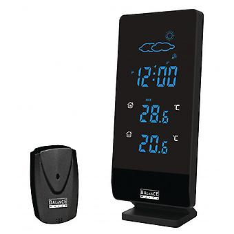 Balance radio controlled weather station Indoor and Outdoor Black