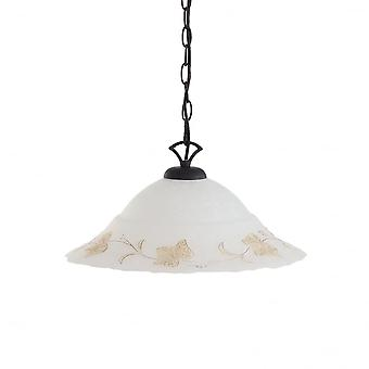 Ideal Lux Foglia Flush plafond verre Scavo unique pendentif goutte, 50cm