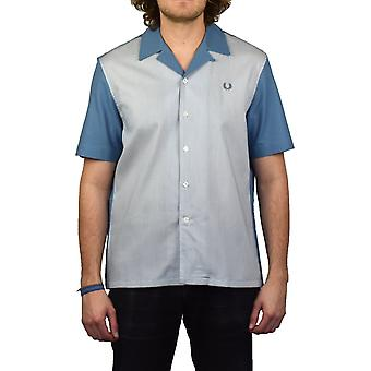 Fred Perry Stripe Panel Shirt (Washed Dusk)