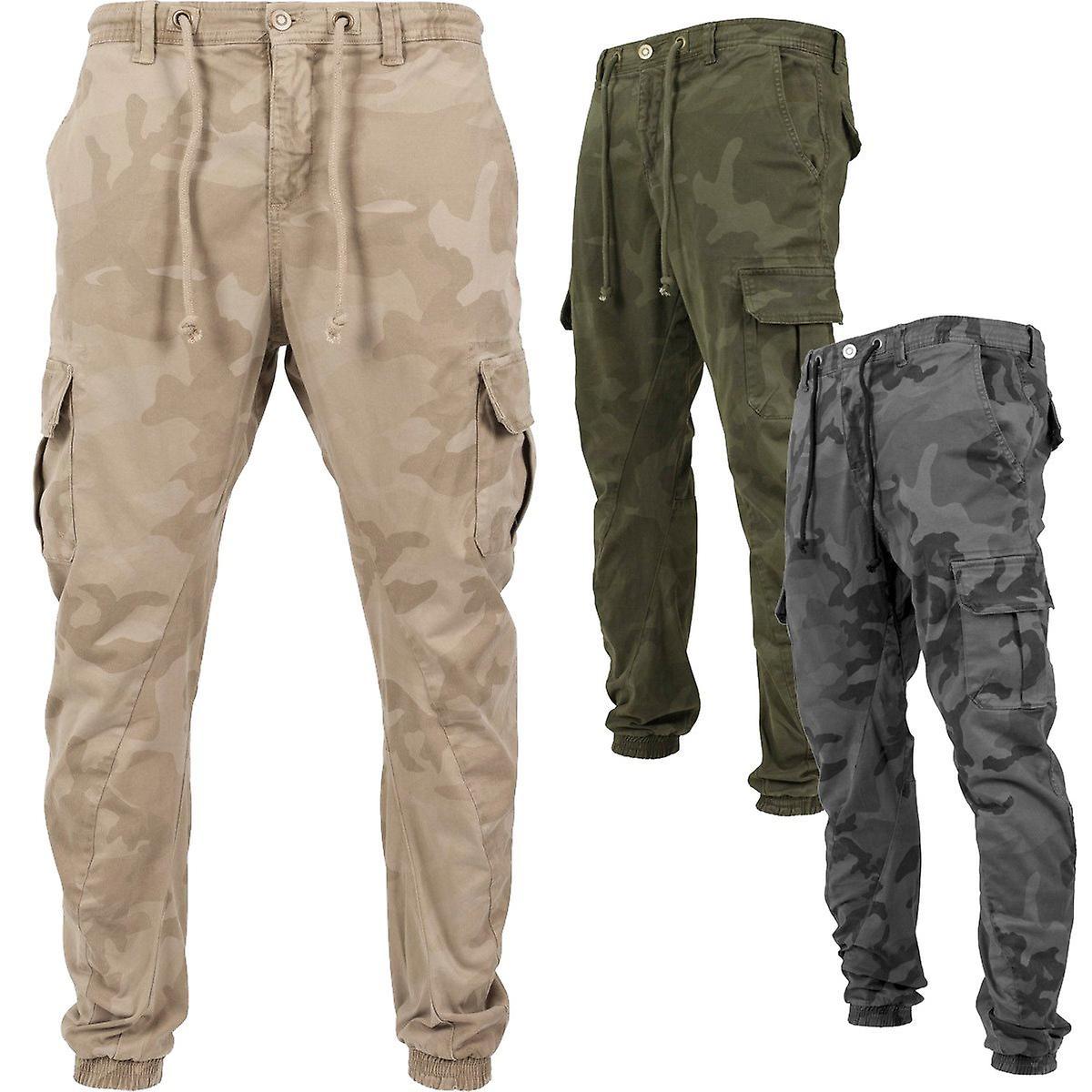 Urbains classics - cargo Camo armée de jogging pantalon