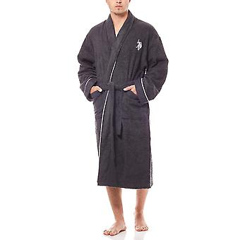 U.S. POLO ASSN. Terry cloth bathrobes sauna coat black
