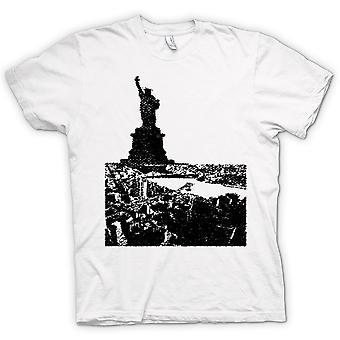 Womens T-shirt - USA Statue Of Liberty Art