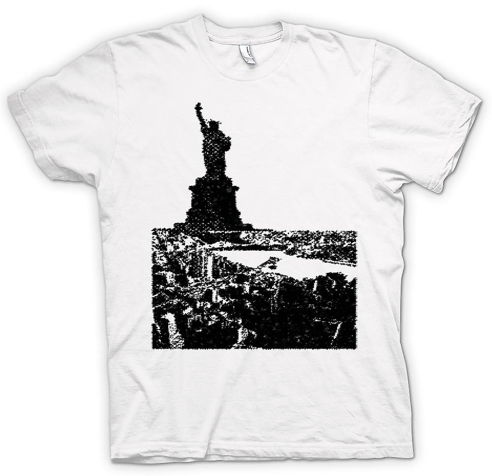 Womens T-shirt - USA Statue of Liberty Art