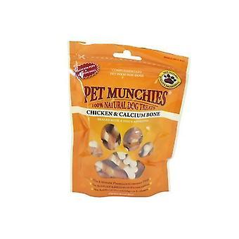 PET Munchies pollo y los huesos de calcio 100g, paquete de 8