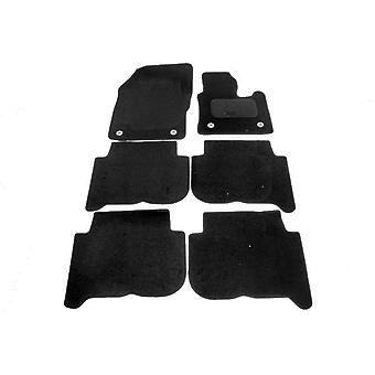 Fully Tailored Car Floor Mats - Volkswagen TOURAN 2007-2010 Black