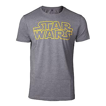 Star Wars Outlines Logo T-Shirt Grey X-Large (TS728688STW-XL)