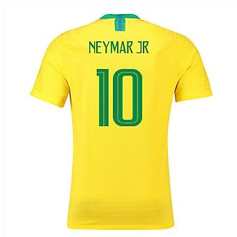 2018-2019 Brazil Home Nike Vapor Match Shirt (Neymar Jr 10)