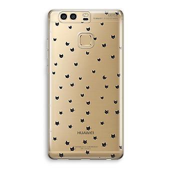 Huawei P9 Transparent Case (Soft) - Little cats