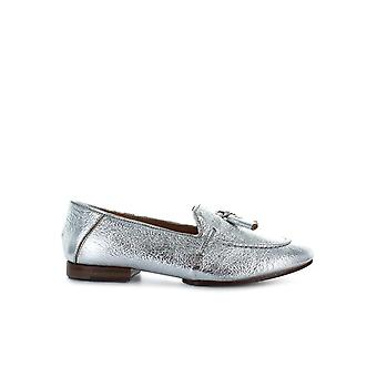 G DI G SILVER LEATHER WITH TASSELS LOAFER