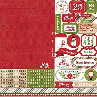 I Love Christmas Cardstock Stickers 12