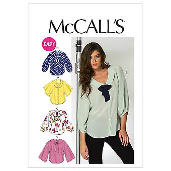 Misses' Blouses-6-8-10-12-14 -*SEWING PATTERN*