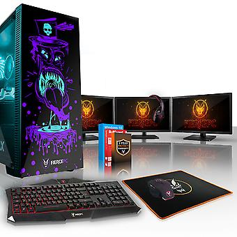 Fierce GOBBLER Gaming PC, Fast Intel Core i7 8700K 4.5GHz, 2TB SSHD, 8GB RAM, GTX 1070 8GB