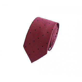Schlips Krawatte Krawatten Binder 6cm rot gepunktet Fabio Farini