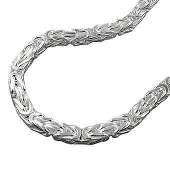 Ketting ca. 5mm koning keten plein glanzend zilver 925 50 cm