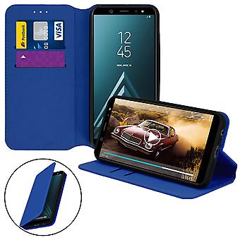 Slim Case, Classic Edition stand case with card slot for Galaxy A6 - Darkblue
