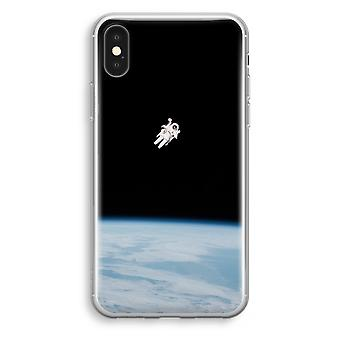 iPhone XS Transparant Case (Soft) - Alone in Space