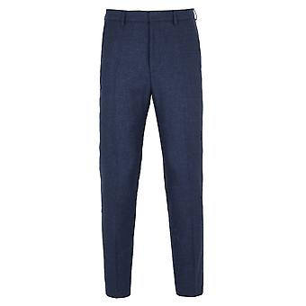 BOSS Pirko Blue Chambray Slim Fit Suit Trousers