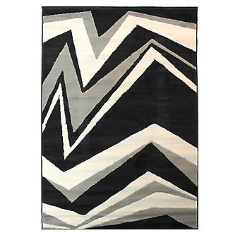 Element Shard Rugs In Black And Grey