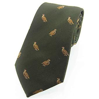 David Van Hagen rype vevd landet silke slips - grønt