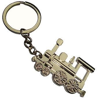 Bassin and Brown Train Keyring - Silver