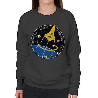 NASA STS 120 Shuttle Mission Imagery Patch Women's Sweatshirt