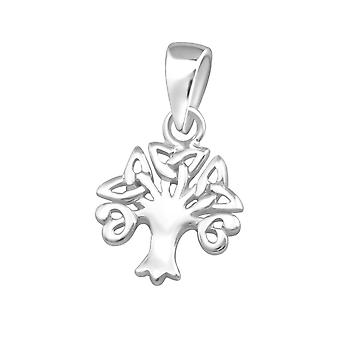 Celtic Tree - 925 Sterling Silver Plain Pendants - W36744x