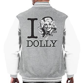 I Heart Dolly Parton Men's Varsity Jacket