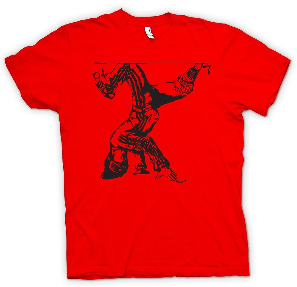 Mens T-shirt - Breakdancing Hip Hop - BW