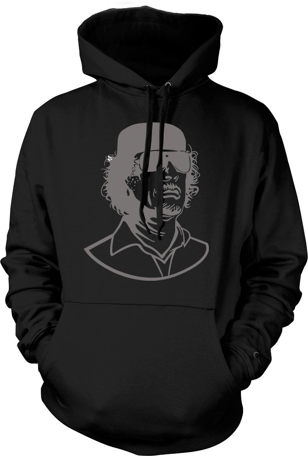Mens Hoodie - Gaddafi - Libische Dictator portret