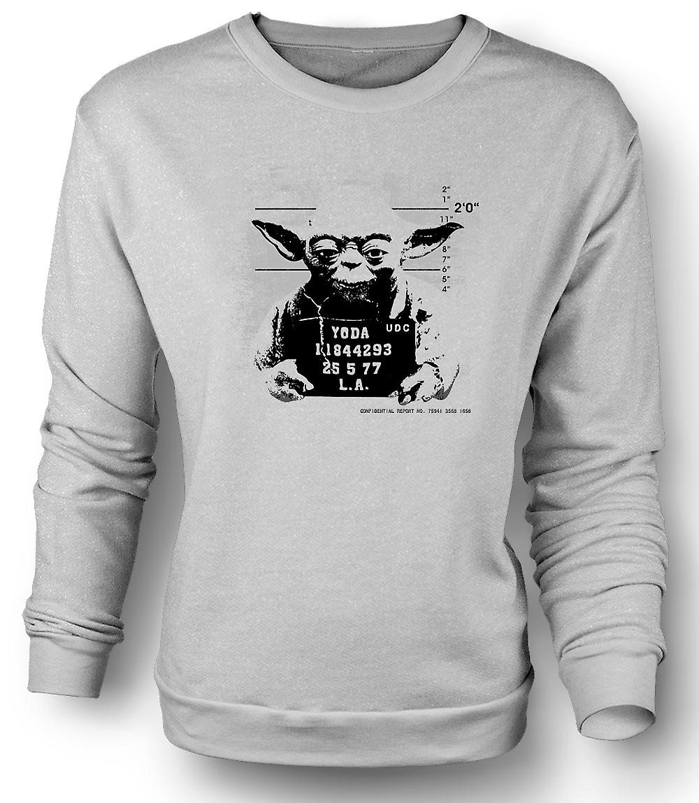 Mens Sweatshirt Yoda Mug Shot - Star Wars - Funny