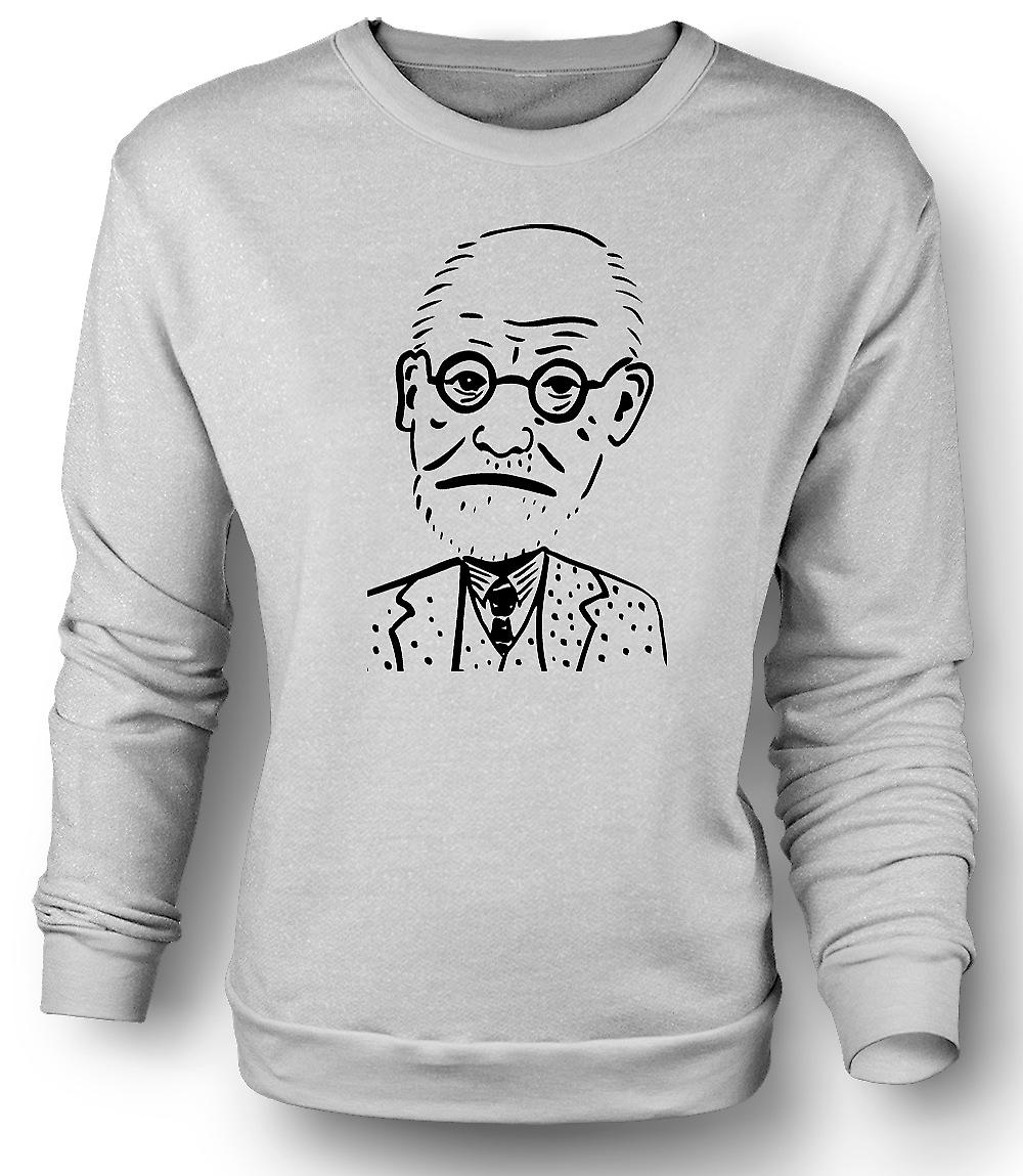 Mens Sweatshirt Sigmund Freud - Psychology - Caricature
