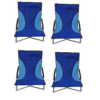 4 Nalu blu pieghevole basso sedile sedia campeggio sedie da spiaggia