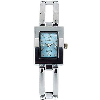The Olivia Collection Ladies Rectangle Blue Dial Bracelet Strap Watch COS44