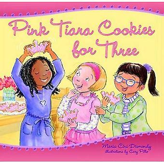 Roze Tiara Cookies voor drie