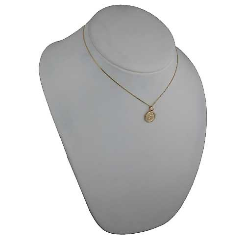 18ct Gold 15x15mm plain octagonal St Christopher Pendant with a curb Chain 16 inches Only Suitable for Children